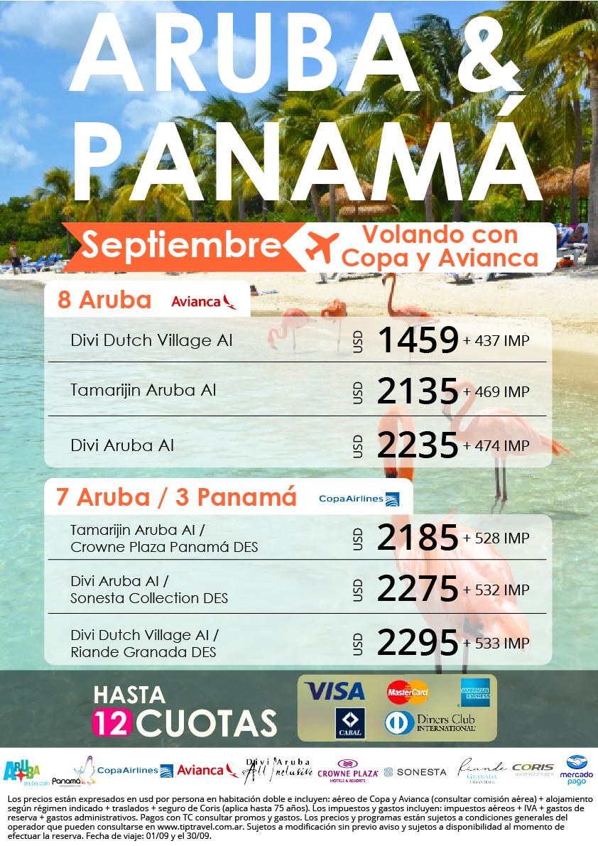 ARUBA Y PANAMA SEPTIEMBRE