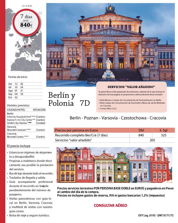 BERLIN Y POLONIA HASTA 2 OCTUBRE