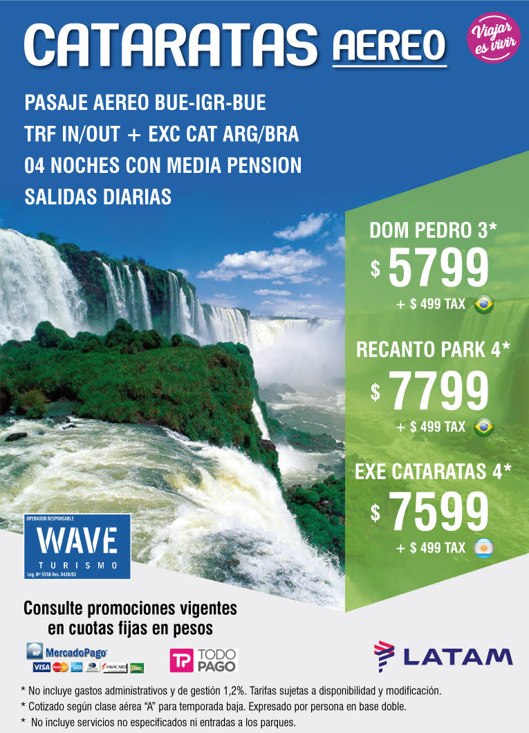 CATARATAS AEREO WAVE