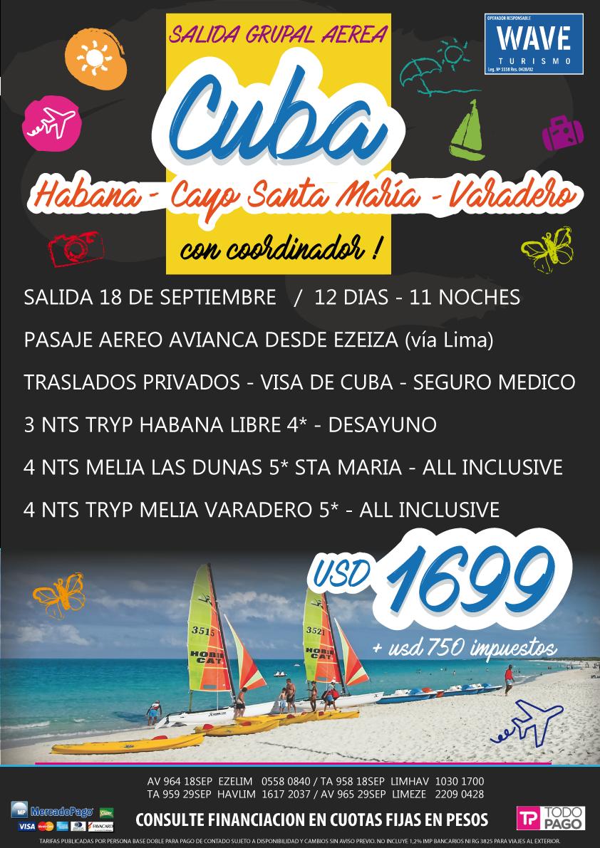 CUBA GRUPAL 18 SEPTIEMBRE WAVE