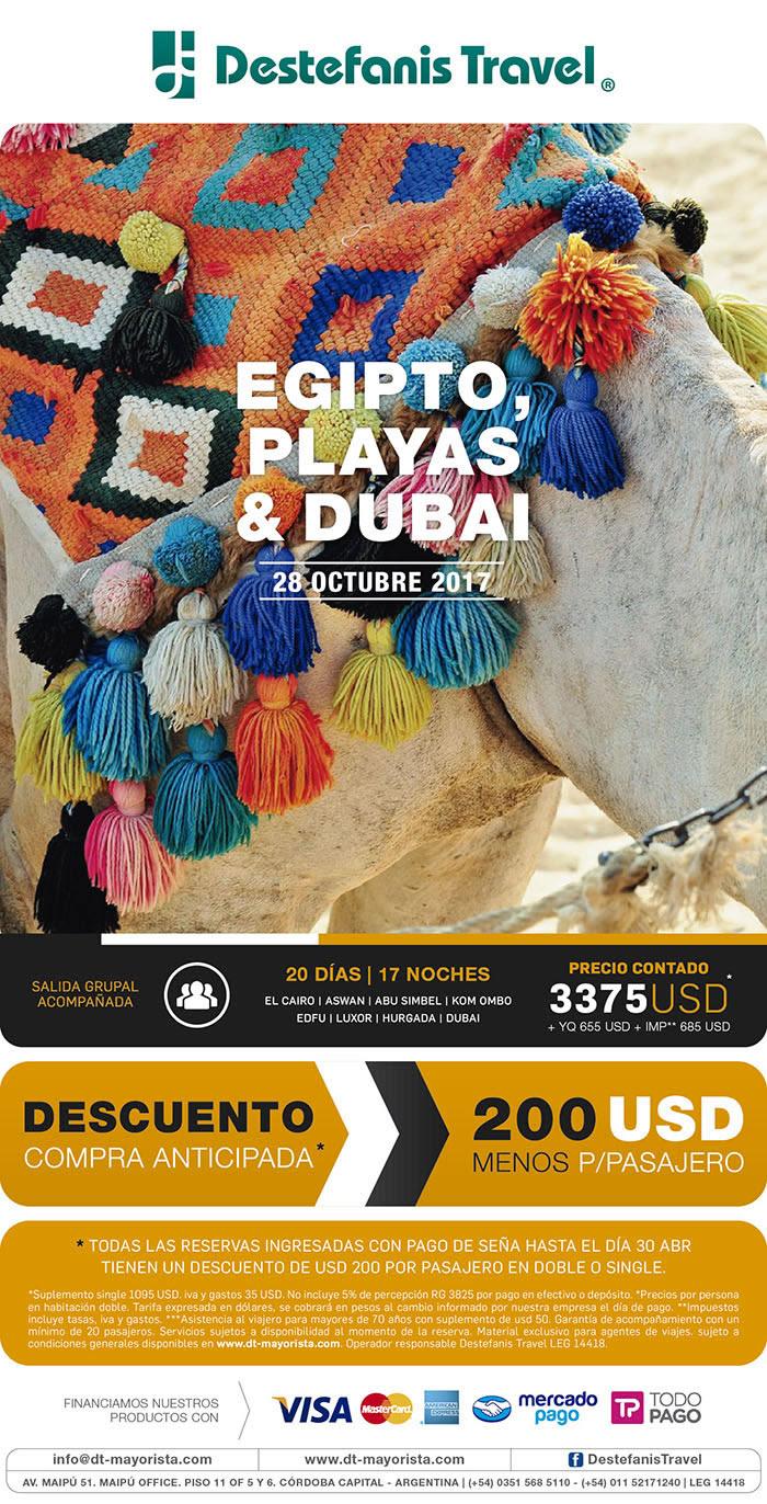EGIPTO, PLAYAS Y DUBAI 28 OCTUBRE
