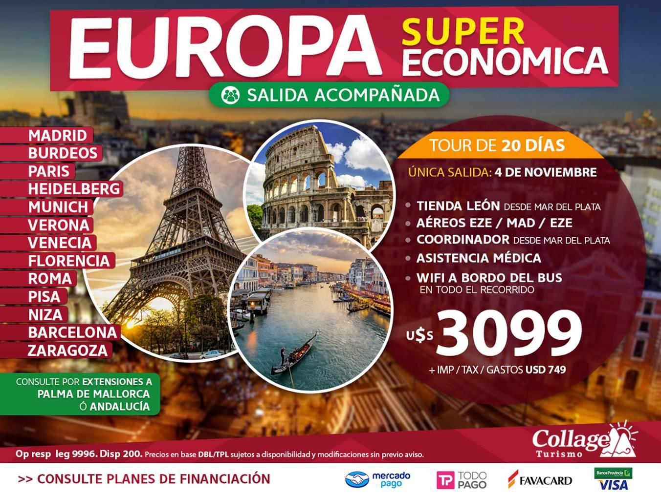 EUROPA ECONOMICA EN GRUPO DESDE MDQ