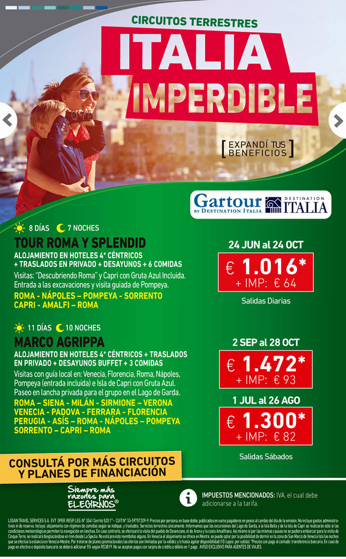 ITALIA HASTA OCTUBRE TERRESATRES