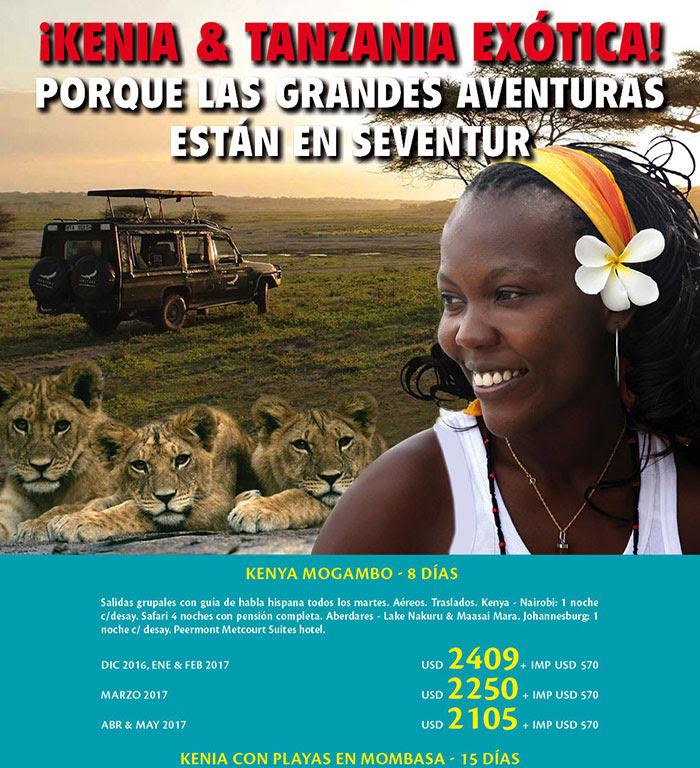 KENIA Y TANZANIA EXOTICA SEVENTUR