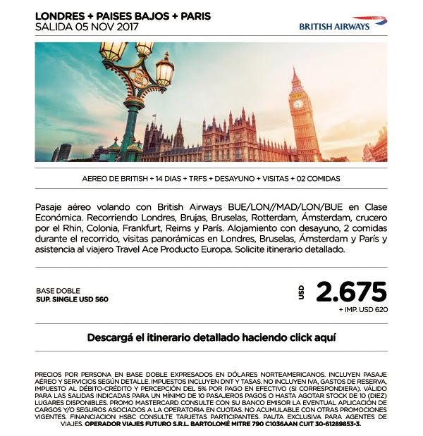 LONDRES Y PAISES BAJOS GRUPAL 05 NOVIEMBRE