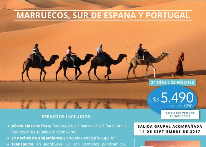 MARRUECOS, SUR DE ESPAÑA Y PORTUGAL 14 SEPTIEMBRE