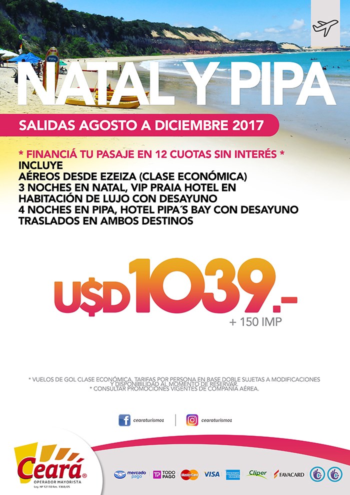 NATAL Y PIPA HASTA DIC