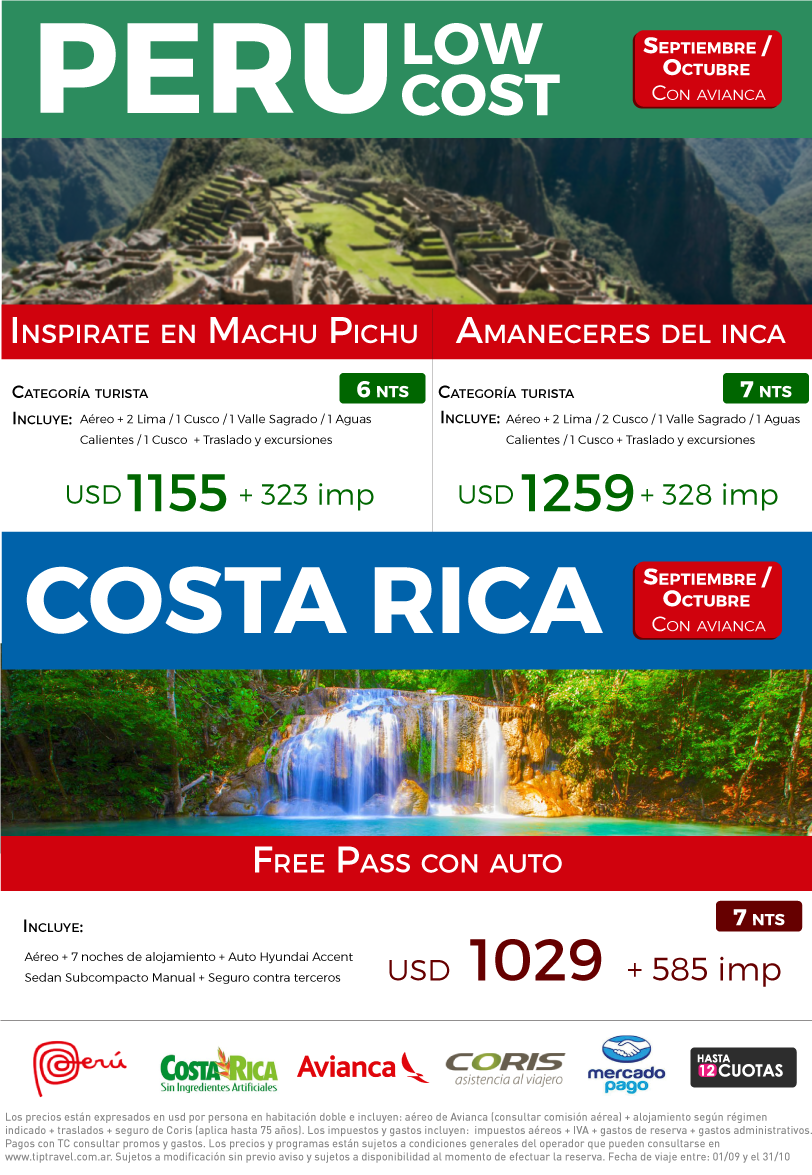 PERU LOW COST SEPT Y OCT