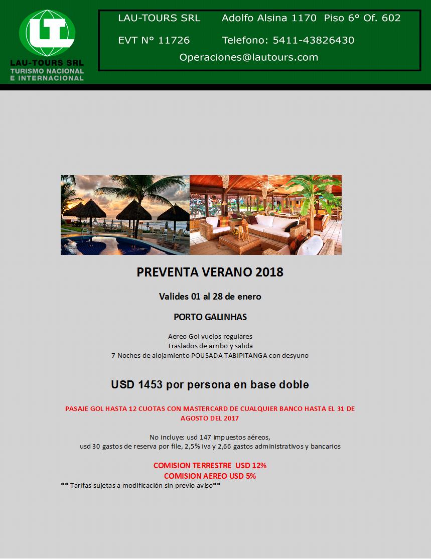 PORTO GALHINAS VERANO 2018