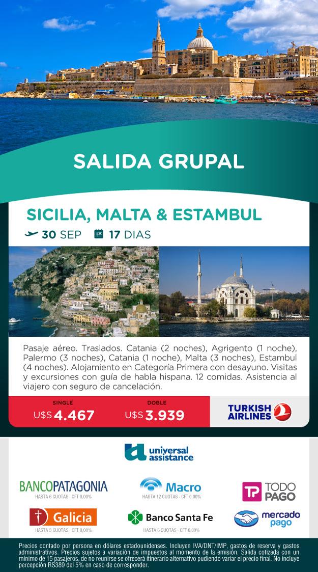 SICILIA, MALTA Y ESTAMBUL 30 SEPTIEMBRE