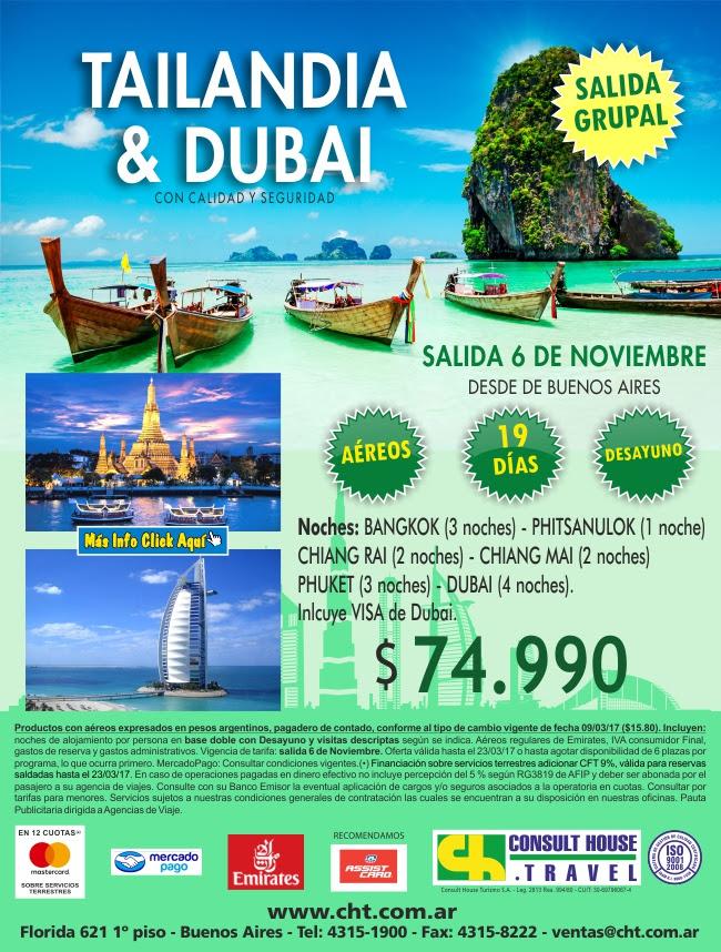 TAILANDIA Y DUBAI 6 DE NOVIEMBRE