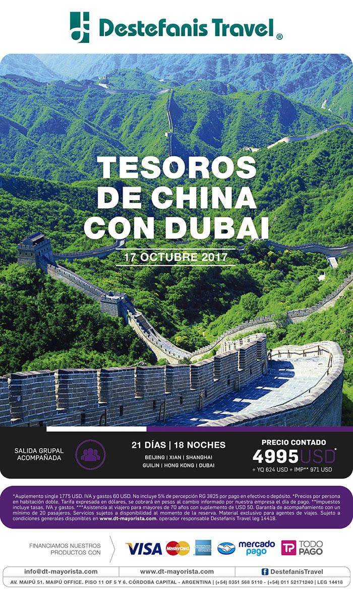 TESOROS DE CHINA CON DUBAI 17 OCTUBRE